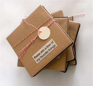 brown paper packages tied up with string…