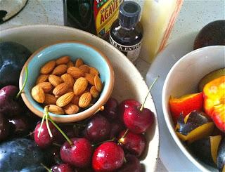 cherry almond crumble