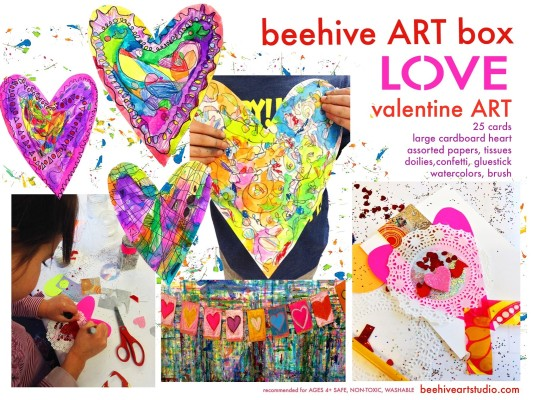 LOVE box.. valentine ART!